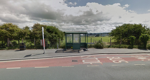 Newborn baby discovered abandoned in bus shelter