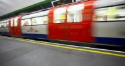 tube train going through station