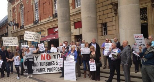 Peterborough Solar Farm Protests